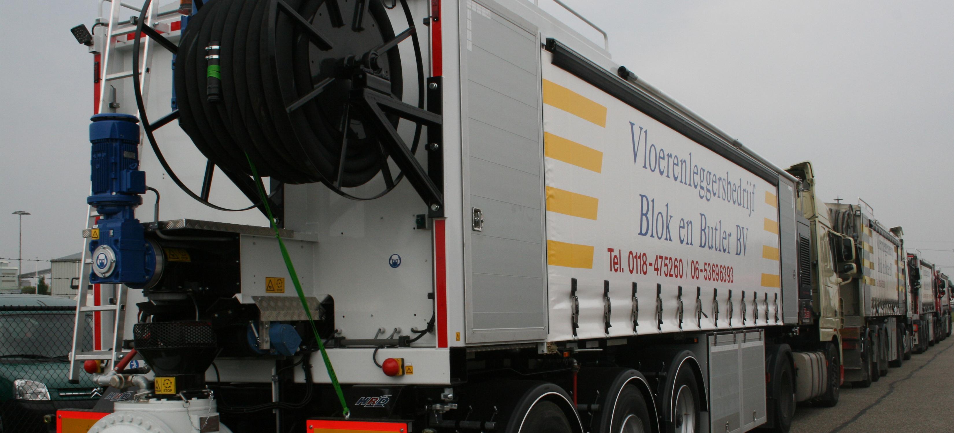 Vrachtwagen met nieuwste technieken