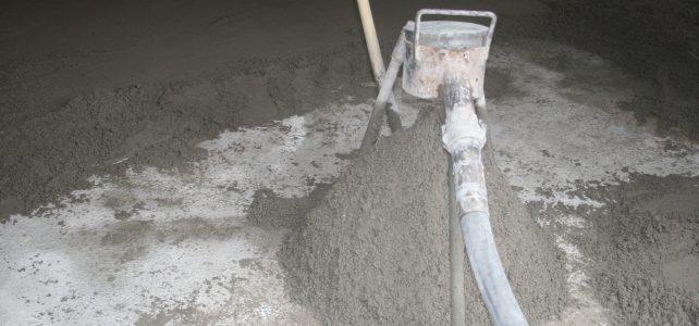 Zandcementvloer storten